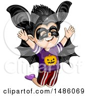 Boy In A Vampire Bat Halloween Costume