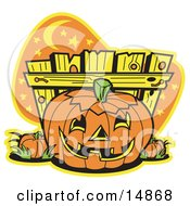 Printable Clipart Of Halloween Pumpkin Patch Cartoon