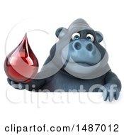 Clipart Of A 3d Gorilla Mascot On A White Background Royalty Free Illustration