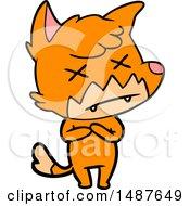 Cartoon Cross Eyed Fox by lineartestpilot