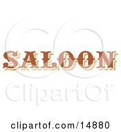 Brown Saloon Sign Clipart Illustration by Andy Nortnik