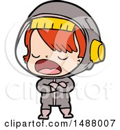 Cartoon Talking Astronaut by lineartestpilot