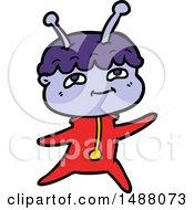 Friendly Cartoon Spaceman Dancing by lineartestpilot