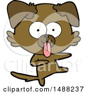 Cartoon Dog With Tongue Sticking Out