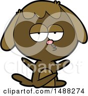 Cartoon Bored Dog