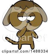 Cartoon Tired Dog