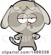 Cartoon Bored Dog