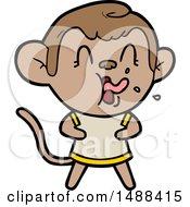 Crazy Cartoon Monkey by lineartestpilot