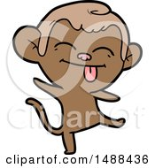 Funny Cartoon Monkey Dancing by lineartestpilot