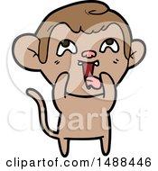 Crazy Cartoon Monkey