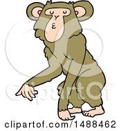 Poster, Art Print Of Cartoon Chimpanzee