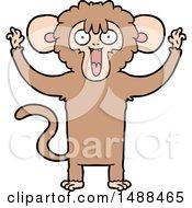 Cartoon Monkey by lineartestpilot