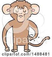 Poster, Art Print Of Cartoon Monkey Scratching