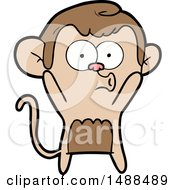Cartoon Surprised Monkey by lineartestpilot