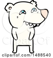 Cartoon Polar Bear Showing Teeth