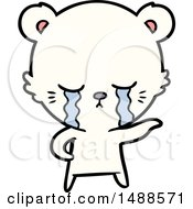 Crying Cartoon Polarbear