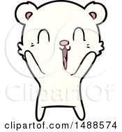 Happy Cartoon Polar Bear