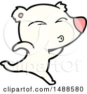 Cartoon Whistling Polar Bear
