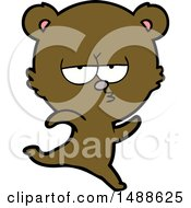 Running Bear Cartoon