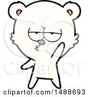 Bored Polar Bear Cartoon