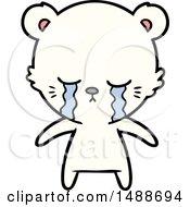 Crying Cartoon Polarbear