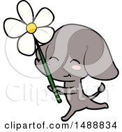 Cute Cartoon Elephant Running by lineartestpilot