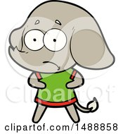 Cartoon Unsure Elephant