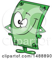Cartoon Dollar Bill Mascot Character