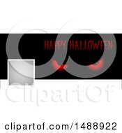 Happy Halloween Social Media Banner With Evil Eyes