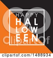 White Black And Orange Happy Haloween Greeting