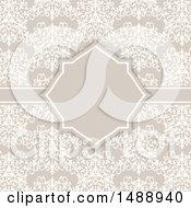 Poster, Art Print Of Vintage Damask Floral Wedding Invite Design