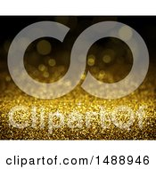 Clipart Of A Gold Sparkly Glitter Background Royalty Free Illustration