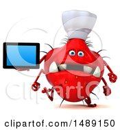 Clipart Of A 3d Red Monster Or Germ Character On A White Background Royalty Free Illustration