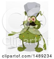 Clipart Of A Cartoon Green Monster Or Germ Character On A White Background Royalty Free Illustration
