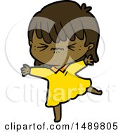 Stressed Out Cartoon Clipart Girl