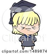Annoyed Cartoon Clipart Girl