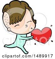 Cartoon Clipart Girl In Onesie