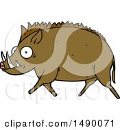 Clipart Cartoon Wild Boar