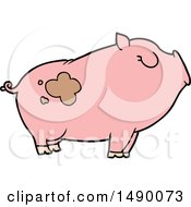 Clipart Cartoon Pig by lineartestpilot