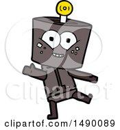 Clipart Happy Cartoon Robot Dancing by lineartestpilot