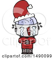 Clipart Cartoon Crying Robot