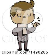 Clipart Cartoon Aloof Man