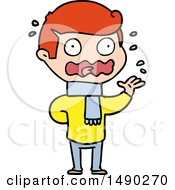 Clipart Cartoon Man Totally Stressed Out