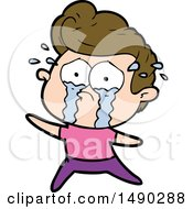 Clipart Dancing Crying Man by lineartestpilot