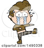 Clipart Cartoon Crying Dancer by lineartestpilot