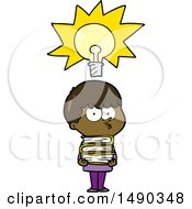 Clipart Cartoon Curious Boy With Lots Of Books by lineartestpilot