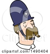 Clipart Cartoon Policeman With Mustache by lineartestpilot