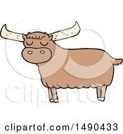 Clipart Cartoon Bull by lineartestpilot