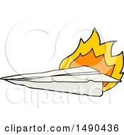 Cartoon Burning Paper Airplane by lineartestpilot