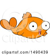 Clipart Happy Goldfish Cartoon by lineartestpilot